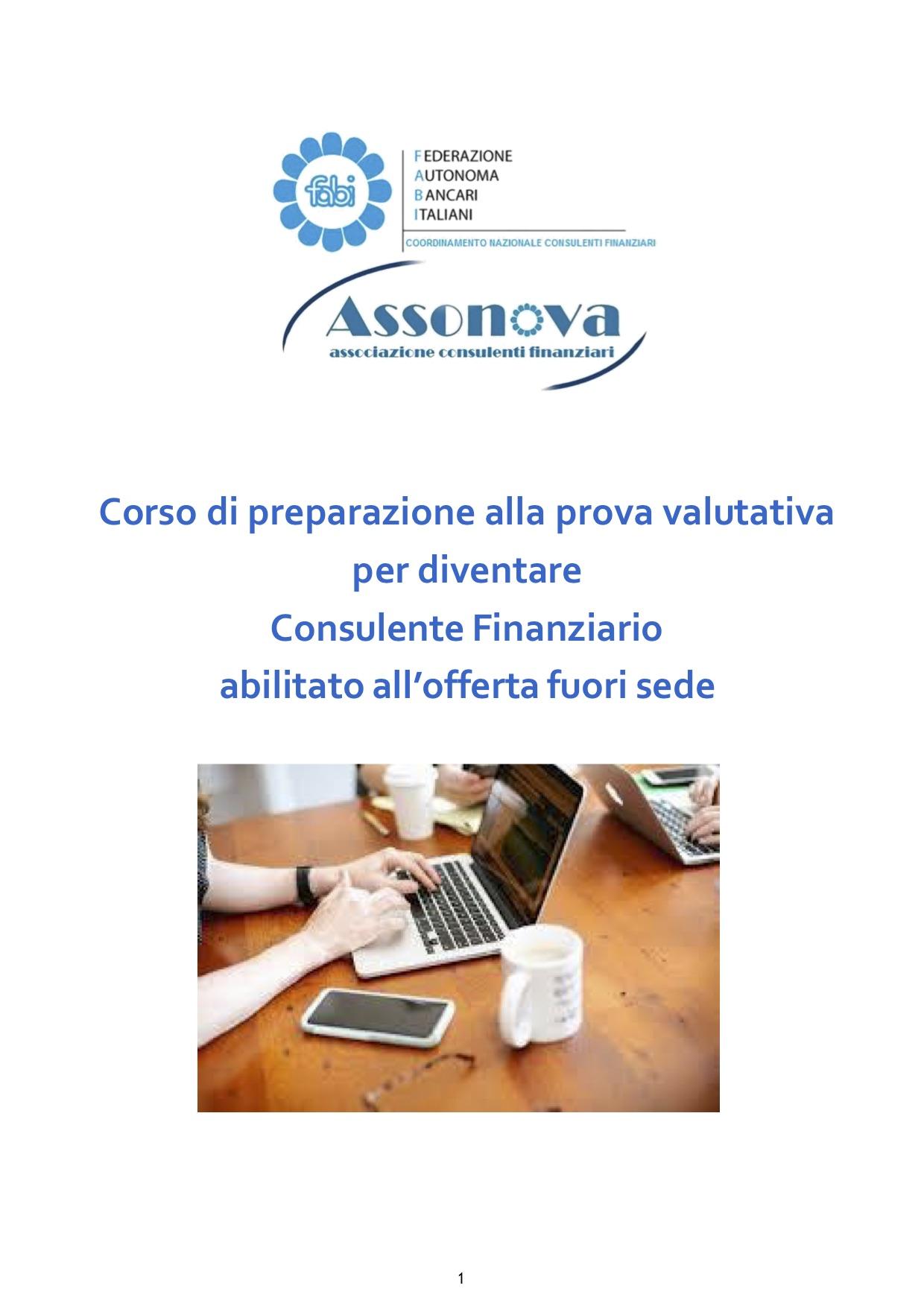 Fabi e Assonova organizzano un nuovo corso per consulenti finanziari