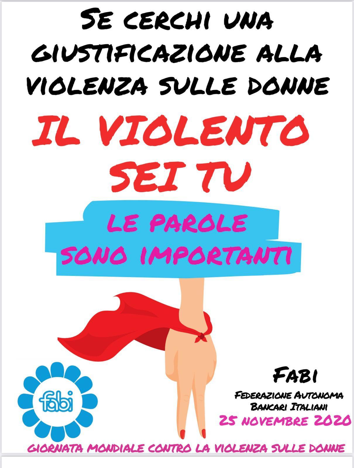 VIOLENZA CONTRO LE DONNE: LE PAROLE SONO IMPORTANTI